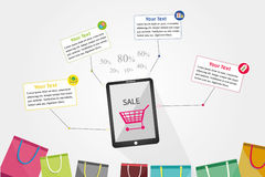 Infographic Shopping Stock Image