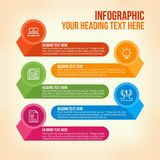 Education infographic in colorful horizontal bars Stock Photo