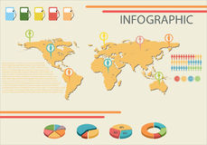An infographic showing the fuel consumption Royalty Free Stock Photography