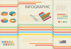 Infographic showing the statistics of people Stock Photography