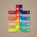Infographic signs on paper stickers. Infographic color signs on paper stickers Stock Image
