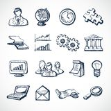Infographic sketch icons Stock Photography