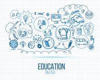 Infographic skolutbildning vektor illustrationer