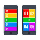Infographic Smartphone Concept in Flat Style. Vector Stock Photography