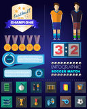 Infographic Soccer Match Stock Images