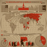Infographic socialista ilustración del vector