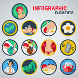 Infographic spa Royalty-vrije Stock Foto's