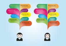 Infographic Speech Royalty Free Stock Image
