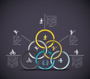 Infographic sport background Stock Photography
