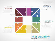 Infographic square presentation Royalty Free Stock Photo
