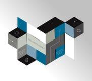 Infographic square tab, chart. Polygonal design. Stock Photos