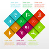 Infographic square template stock illustration
