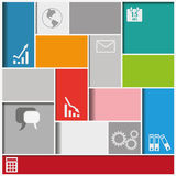 Infographic Squares Background. Infographic background with colorful squares. Eps 10  file Stock Images