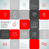 Infographic squares background design illustration, steps templa. Te with place for your content Royalty Free Illustration