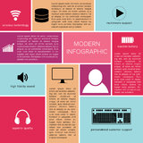Infographic squares template with place for custom Royalty Free Stock Images