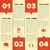 Infographic squares template with place for custom Royalty Free Stock Image