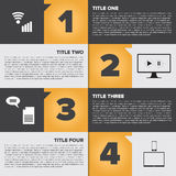 Infographic squares template with place for text Royalty Free Stock Image