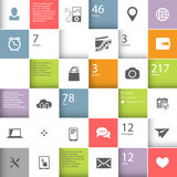 Infographic squares template Stock Image