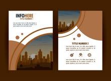 Infographic stadsbroschyr stock illustrationer