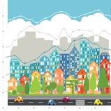 Infographic stadsdiagram Arkivfoto