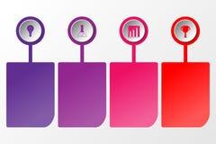 4 infographic stapcirkel en informatieruimte Royalty-vrije Stock Afbeelding