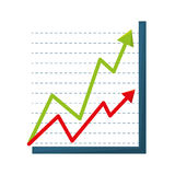 Infographic statistics arrows isolated icon Stock Images