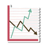 Infographic statistics arrows isolated icon Royalty Free Stock Images
