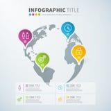 Infographic Statistiken des Geschäfts Weltmit Ikonen Stockfotografie