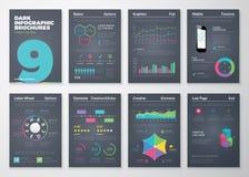 Infographic stellte mit bunten Geschäftsvektorelementen ein Stockfotografie