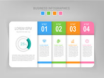 Infographic of step, flat design of business icon vector Royalty Free Stock Photos