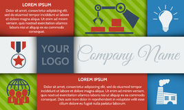 Infographic step by step brochure template or site banner with integrated icons. Royalty Free Stock Photos