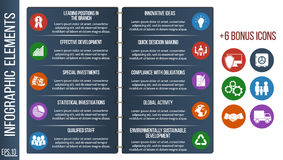 Infographic step by step brochure template or site with integrated icons. Business, finance. Infographic step by step brochure template or site with integrated Stock Image