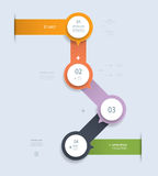 Infographic step by step template Stock Photography