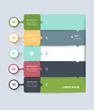 Infographic step by step template. Can be used for infographics, number banners, graphic for website layout Stock Photo