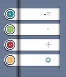 Infographic step by step template Stock Images