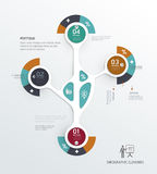 Infographic step by step template. can be used for workflow layout, Stock Photos