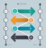 Infographic step by step timeline template Stock Photo