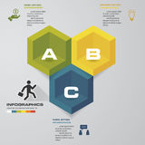 Infographic 3 steps business template vector illustration. EPS10 Royalty Free Stock Photo