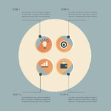 Infographic steps design template Stock Photography