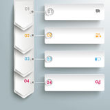 Infographic 4 Steps White Arrows Banners Royalty Free Stock Photography