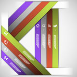 Infographic strips template Royalty Free Stock Photo
