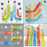 Infographic strzała obwodu Biznesowy Marketingowy wektor Obrazy Royalty Free