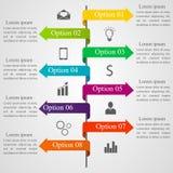 Infographic strzała szablon Obrazy Stock
