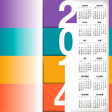 2014 Infographic Style Calendar. For Home, Office or Website Vector Illustration