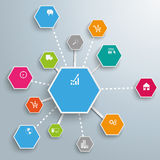 Infographic Successful Networks Hexagons Royalty Free Stock Photography