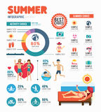 Infographic summer template design . concept vector illustration Stock Photos