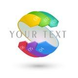 Infographic symbol Arkivfoto