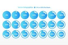 Infographic symboler för procentsatsvektor Procentpajdiagram för affären, finans, rengöringsduk, design som nedladdar stock illustrationer