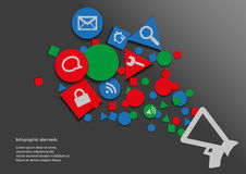 Infographic with symbols. Infographic with geometric symbols and web symbols Royalty Free Stock Images