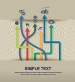 Infographic symbolsvektor Arkivbild